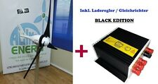 SET 24V 500W BLACK EDITION WINDGENERATOR + LADEREGLER, WIND TURBINE iSTA-BREEZE®