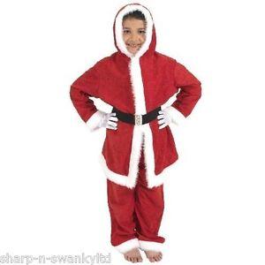 jungen m dchen kinder weihnachtsmann anzug weihnachten kost m kleid outfit ebay. Black Bedroom Furniture Sets. Home Design Ideas