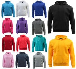 Adult-Men-039-s-Unisex-Basic-Plain-Hoodie-Jumper-Pullover-Sweater-Sweatshirt-XS-5XL
