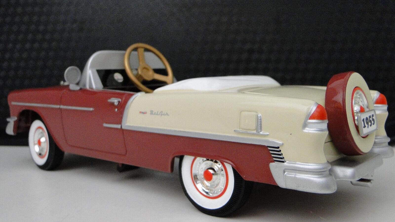 1955 Chevy Pedal bil årgång BelAir Metal samlaor 1957   UPPFYLLD BESKRIVNING