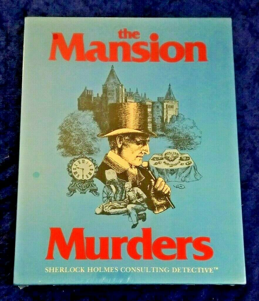 RARE New & Sealed The Mansion Murders Sherlock Holmes Consulting Detective