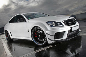 Mercedes black wide body kit c204 coupe for c250 c350 c63 amg image is loading mercedes 034 black 034 wide body kit c204 sciox Gallery