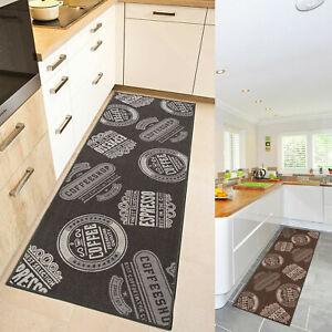 Details zu Küchenläufer Kaffee Coffee Waschbar Teppich Läufer Küche Modern  Cafe Espresso
