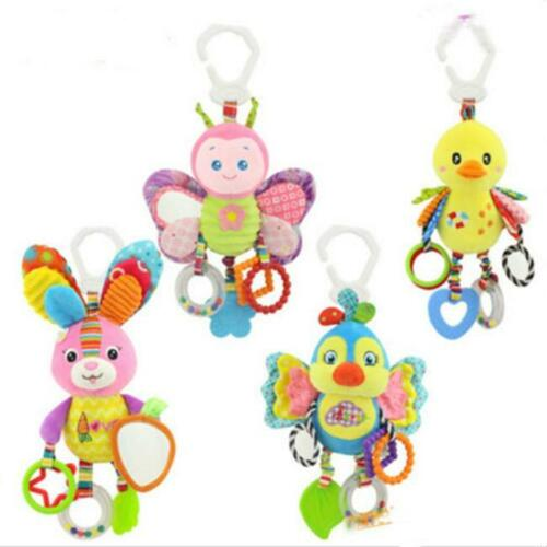 Baby Infant Rattle Plush Animal Stroller Music Hanging Bell Toy Doll Soft Bed RF