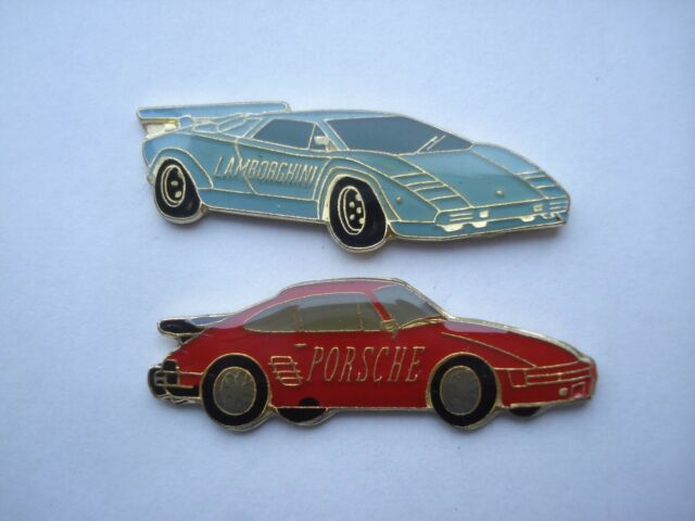 Porsche 911 Turbo Lamborghini Countach Diablo Vintage Sports Car Pin