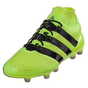 release date 2650a 81be4 Details about adidas Men's ACE 16.1 PrimeKnit FG/AG Solar Yellow/Core Black  S76470