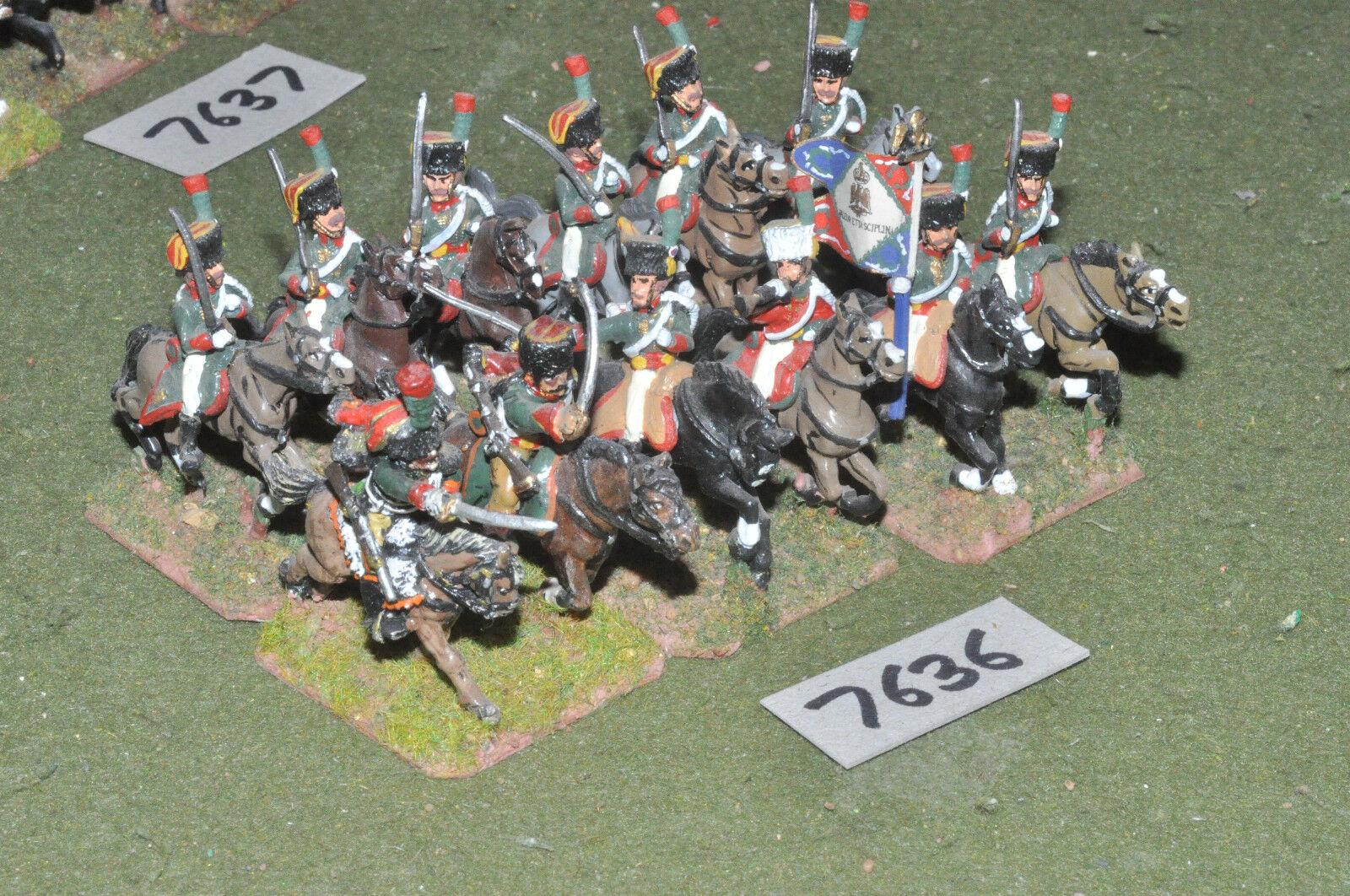 25mm napoleónicas francés-Guard Chasseur a Cheval 12 de caballería de Metal-CAV (7636)