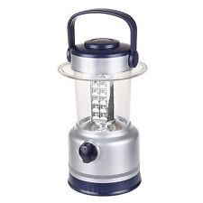 Silver 10 In. Lantern 30 LED Lights Battery Operated Camping Fishing Dimmer