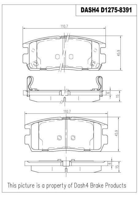 Dash4 MD1495 Semi-Metallic Brake Pad