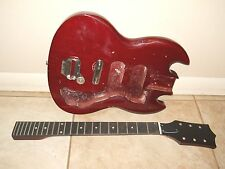 VINTAGE 1960's MIJ JAPAN SG ELECTRIC GUITAR BODY & NECK PROJECT TEISCO GLOBAL