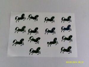 20 - 500 horse stickers fun for children boys girls festivals shows black