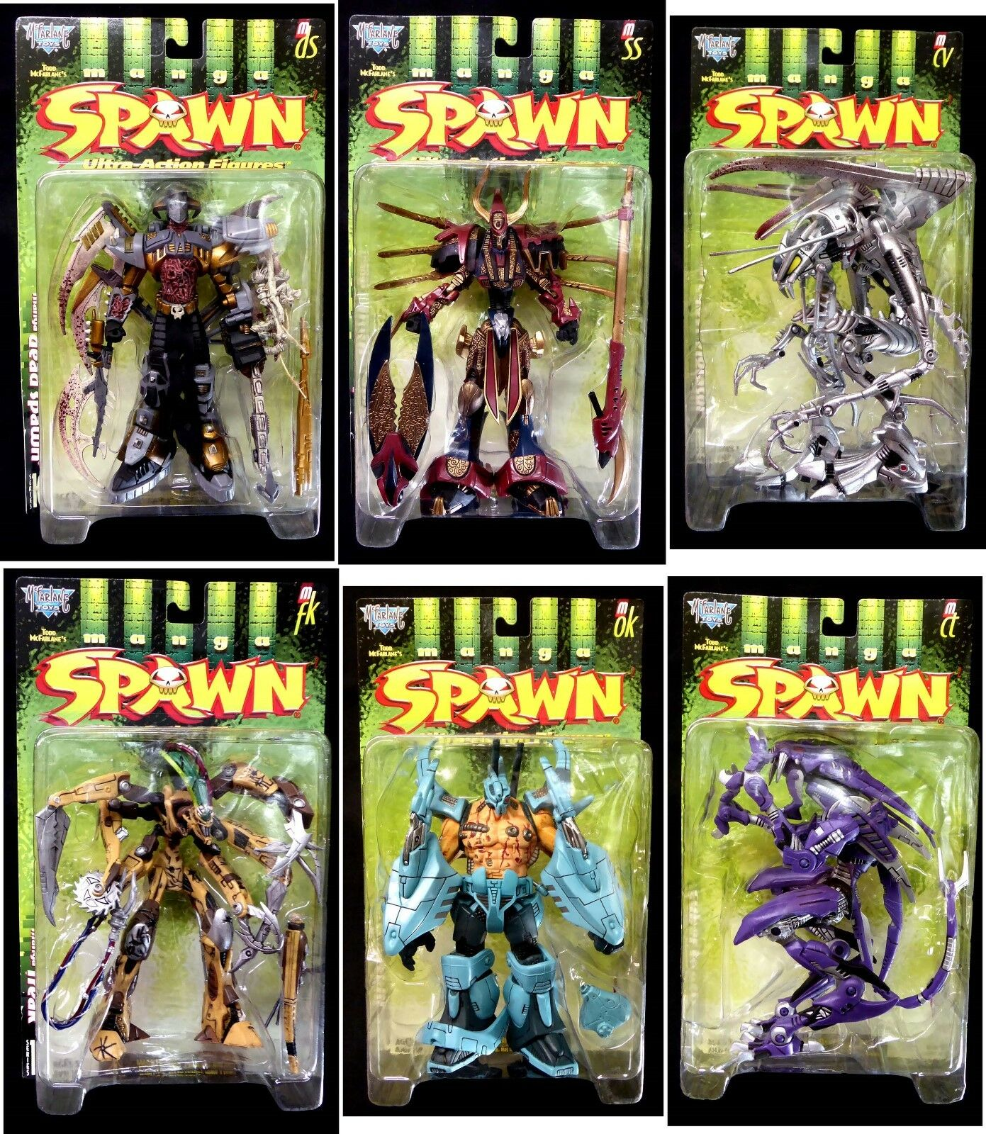 McFarlane Toys Spawn Series 10 Manga Spawn II 6 Action Figure Set 1998