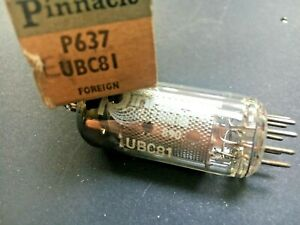 Pinnacle-UBC81-P637-Valve-Tube-Boxed-Unused-New-Old-Stock-Vintage-Radio-Audio
