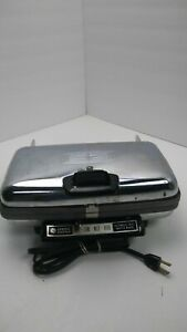 General-Electric-Automatic-Waffle-Baker-Maker-Reversible-Grill-Iron-A3G44-Tested