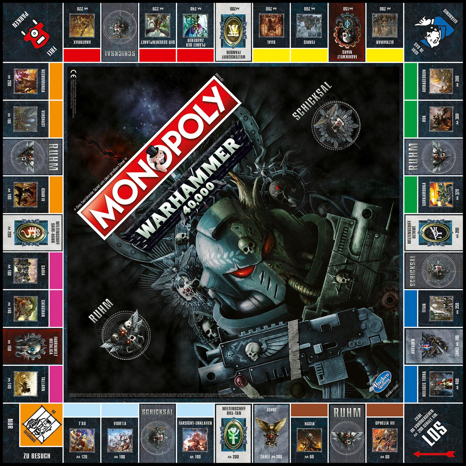 alta calidad Monopoly-Warhammer 40k tabletop-juego tabletop-juego tabletop-juego Warhammer Fantasy  colores increíbles