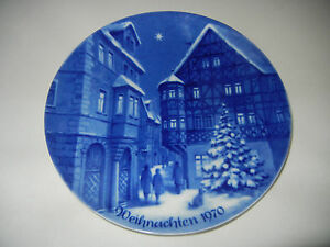 Berlin-Design-Christmas-Plate-1970-Bernkastel-first-Edition-Der-Serie-1-Choice