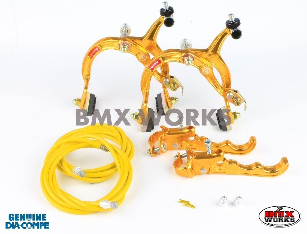 Dia-Compe MX1000 - MX120 oro Brake Brake Brake Set - Old Vintage School BMX Style Brakes 7c95eb