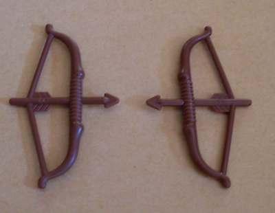 2 Lego Bogen Bögen Pfeile grau Ritter Pfeil und Bogen Waffen Neu
