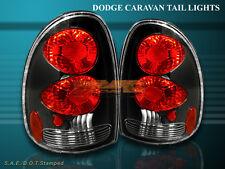 96-99 00 DODGE CARAVAN VOYAGER DURANGO TAIL LIGHTS BLACK