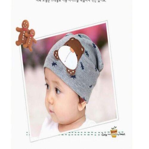 Color Autumn Winter Infant Baby Cartoon Dog Cute Warm Cap Toddler Beanie Hat