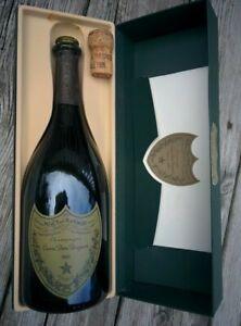 Vintage 1995 Cuvee Dom Perignon EMPTY Glass BOTTLE WITH CASE, CORK & PAPERWORK