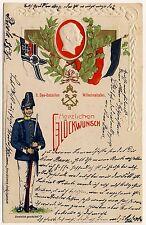 Patriotika KAISER WILHELM II Marine / II. See-Bataillon Wilhelmshaven * AK 1900
