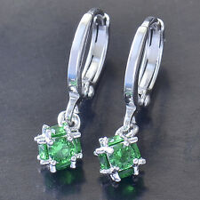 Authentic 14K White Gold Filled Emerald Ladies Megic Ball Dangle earing