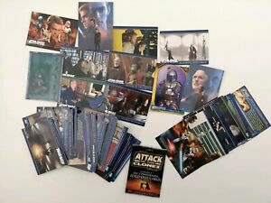49-Attack-of-the-Clones-Topps-Inc-2-foils-A-Fold-Out-amp-index-card-Star-Wars