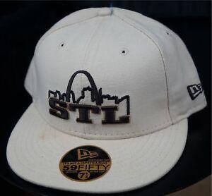 Rare Vintage NEW ERA STL Saint Louis Arch 59Fifty Fitted Hat Cap 90s ... c87c91f019f