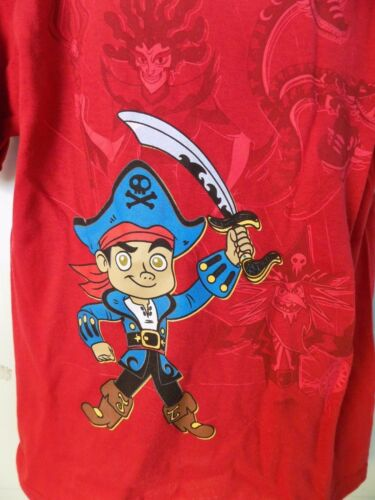 DISNEY STORE JAKE AND THE NEVERLAND PIRATES RED SHORT SLEEVE SHIRT BOY/'S