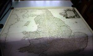 Antique-map-Karte-von-England-und-Wallis
