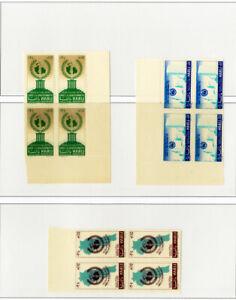 Lebanon-Stamps-C206-8-Error-blocks-of-4-w-printing-both-sides