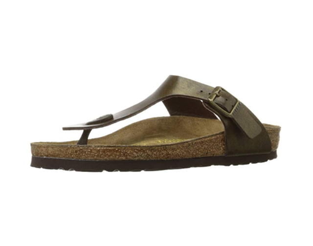 3b31df77efdd Birkenstock Women s Gizeh Gold Brown Birko-Flor Sandals 40 R Women s ...