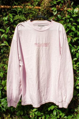Pleasures Pink Box Logo Long Sleeve Shirt XXL