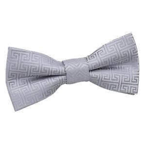 DQT Boys Greek Key Patterned Wedding Cravat