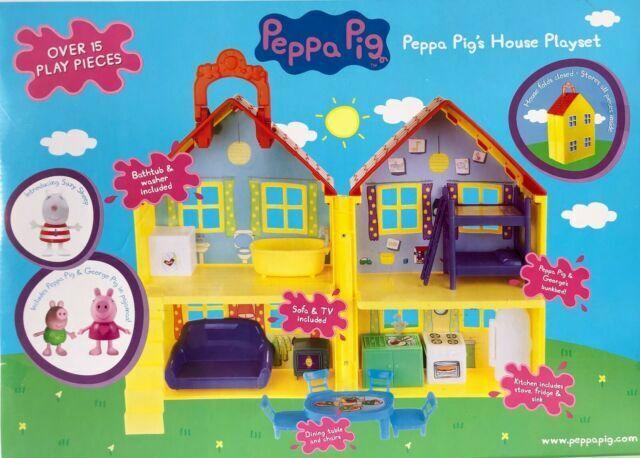 Peppa Pig Living Room Pack SCENE Playset 2 Figurines enfants jouet cadeau maison