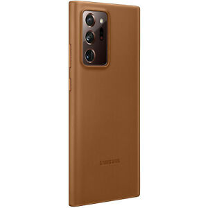 Original-Samsung-Leather-Cover-Case-Huelle-EF-VN985-Galaxy-Note-20-Ultra-Braun