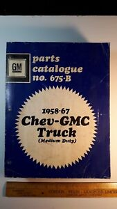 1958-67-GMC-CHEV-Original-Med-Dty-Truck-Parts-Book-Very-Good-Condition-CDN