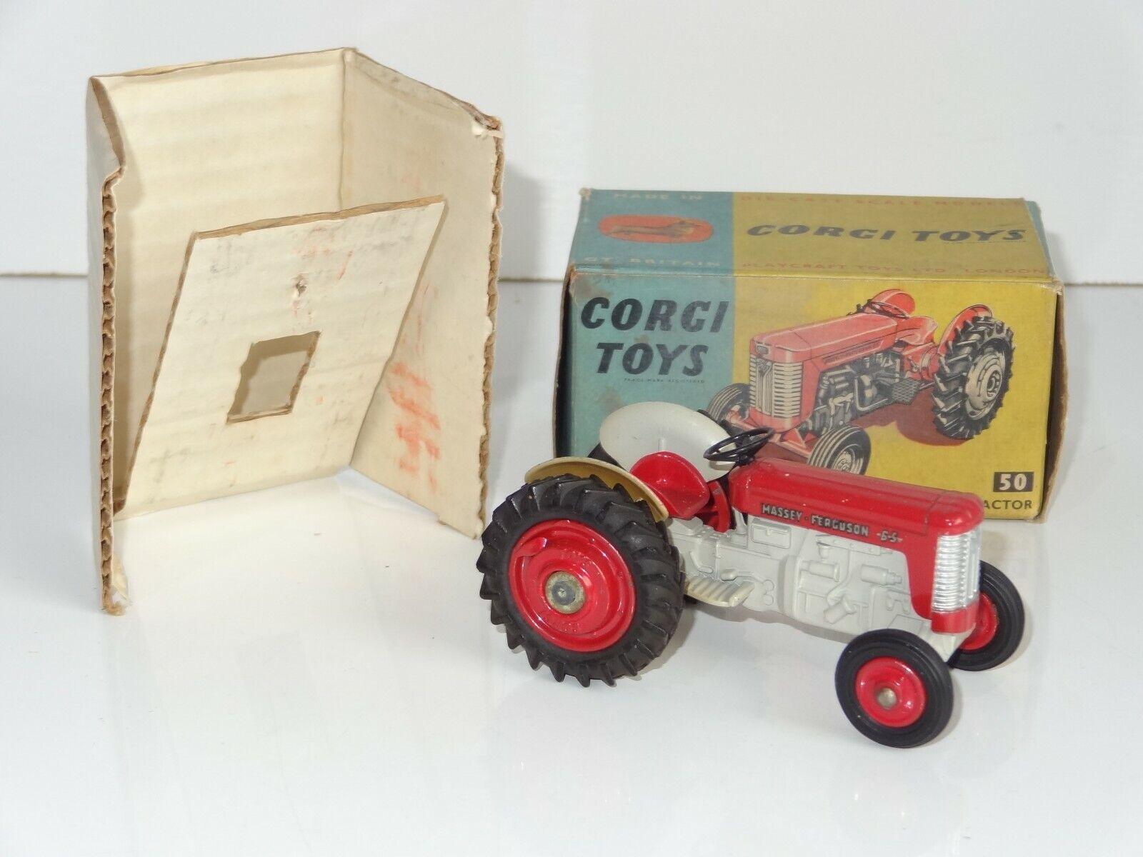 (B) Corgi Massey Ferguson 65 Tracteur - 50 Coffret avec interne d'emballage
