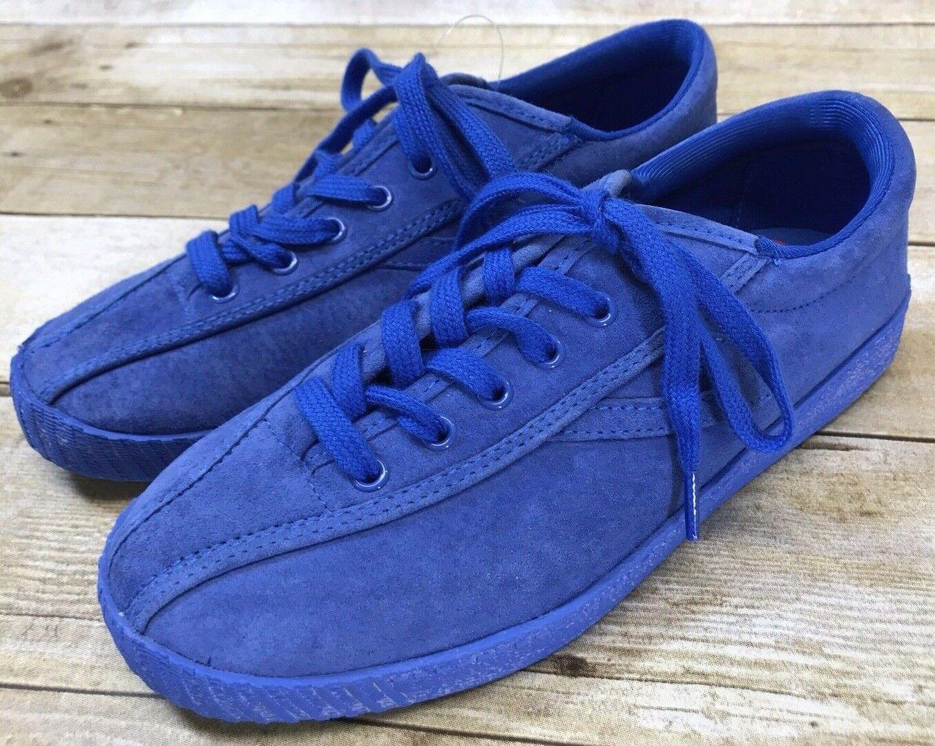 Tretorn Women's Nylite3 Plus Fashion Sneaker bluee Suede Size 6 Brand New