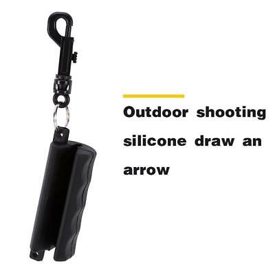 Gel Archery 3D Target Hunting Bow Arrow Puller Remover Keychain Outdoor Black