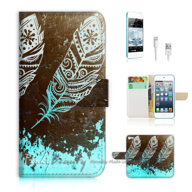 ( For iPod 5 / itouch 5 ) Flip Case Cover! Dream Catcher Feather P0421