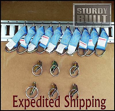 16pcs 10x E Track Tie Off  6x E Track Ring Enclosed Trailer Toy Hauler Cargo Van