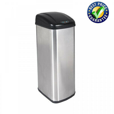 New Touch-Free Sensor Auto Stainless Steel Kitchen Trash Can Office Trash  Cans | eBay