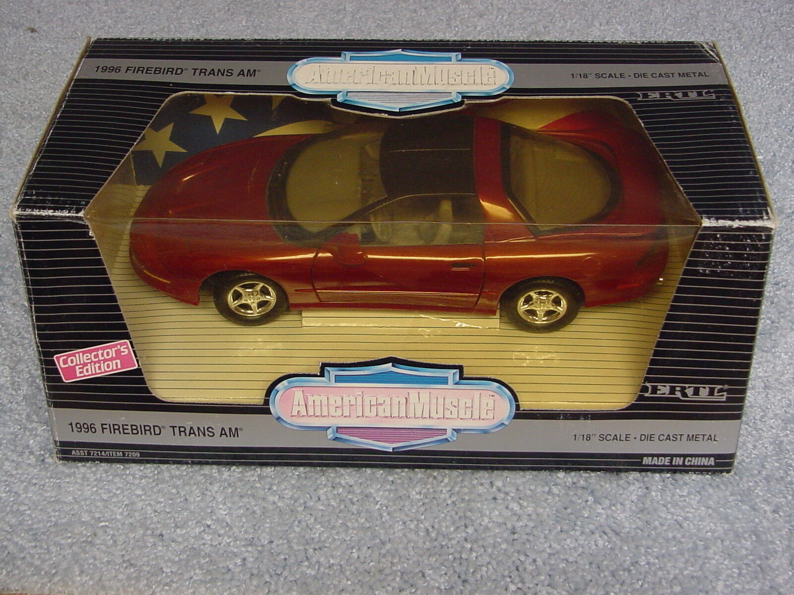 ERTL 1 18 AMERICAN MUSCLE 1996 FIREBIRD TRANS AM CAYENNE RED METALLIC CE CAR