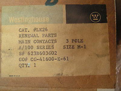 Hoyt K131 Three Pole Silver Contact Kit Westinghouse #1605212 NEW Free Shipping