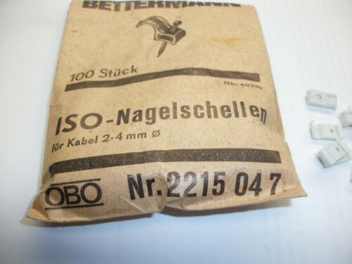 Nagelschellen  ISO  für Kabel 2-4 mm