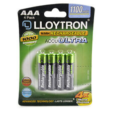 4Pk AAA 1100mAh NiMH Rechargeable Accu Ultra Batteries Upto 1000 Charge B1004