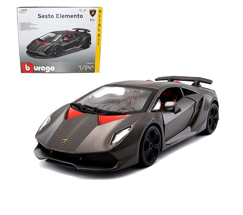 Bburago 1 24 Lamborghini Sesto Elemento Metal Assembly KIT Model Car Toy Grey