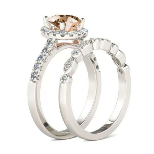 Lot Women 925 Sterling Silver Flower White Sapphire Topaz Wedding Rings Sz 6-10